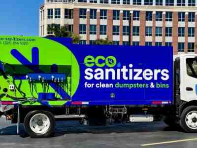 SB5 dumpster and trash bin cleaning truck is going out to Orlando Fl