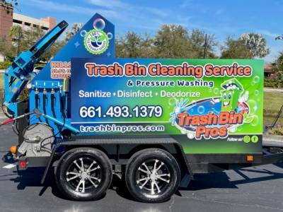 Our latest SB1 single trash can cleaner is going out to California