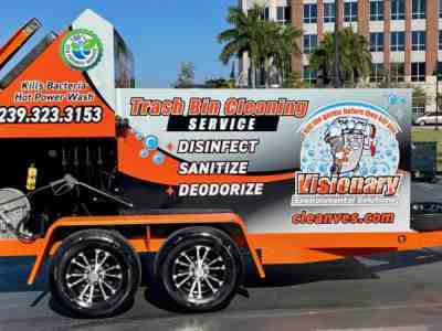 Our latest SB2 trailer mounted trash bin cleaner is going out to Cape Coral